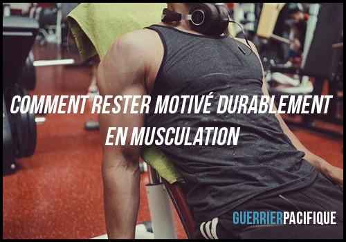 rester motivé en musculation